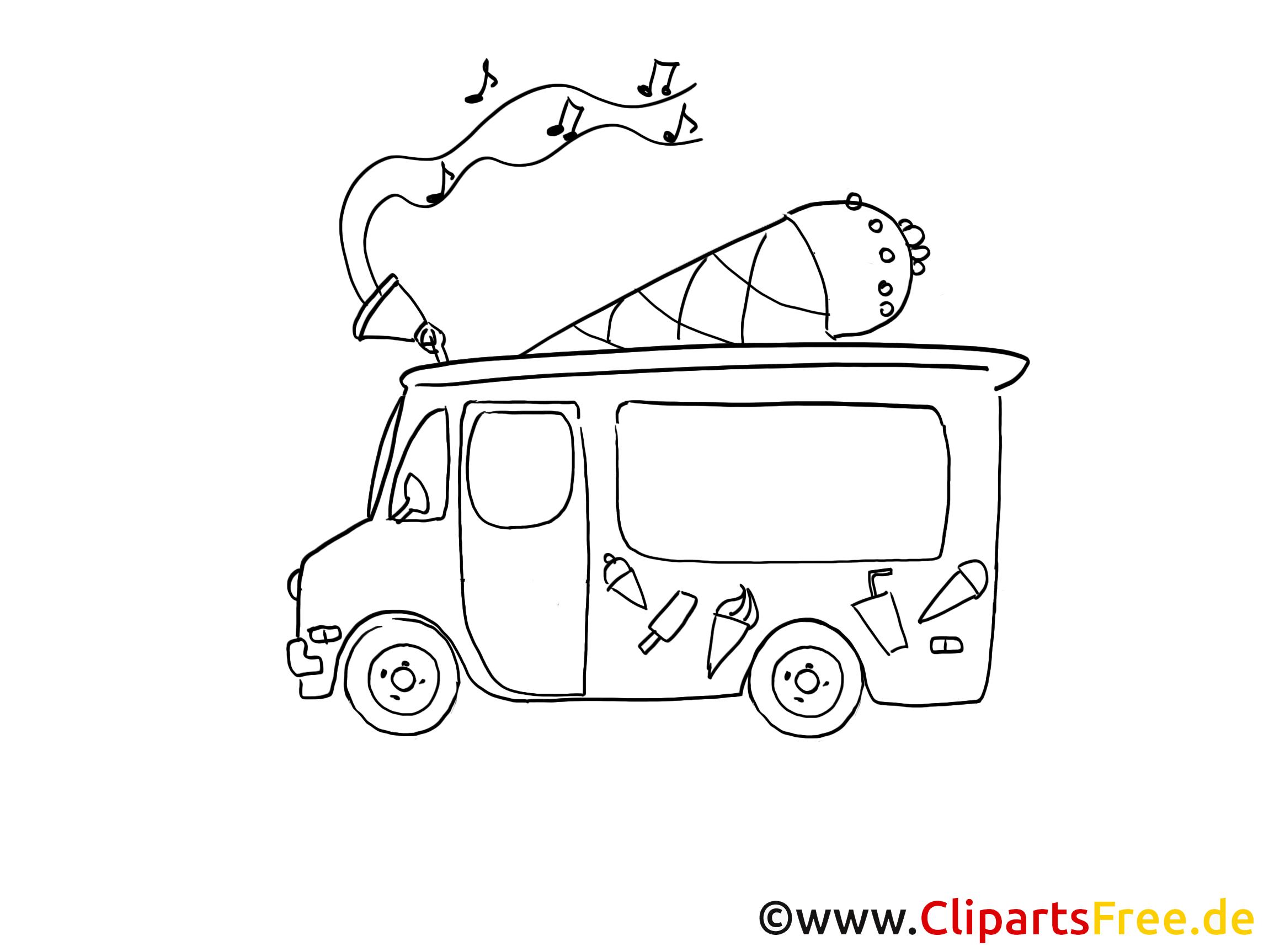 Camion De Crème Glacée Dessins À Imprimer - Voitures Dessin concernant Dessin D Un Camion