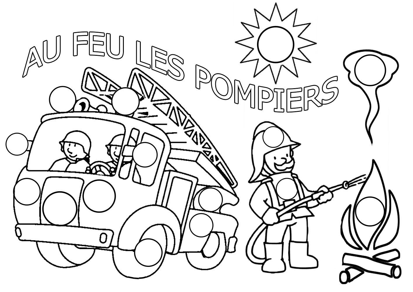Camion De Pompier #40 (Transport) – Coloriages À Imprimer dedans Dessin De Pompier À Imprimer