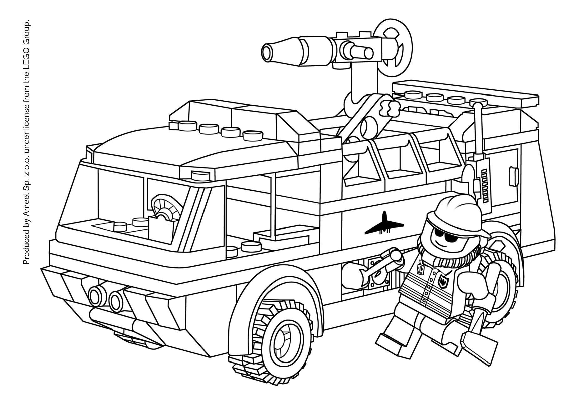 Camion De Pompier #7 (Transport) – Coloriages À Imprimer encequiconcerne Coloriage Pompier A Imprimer Gratuit