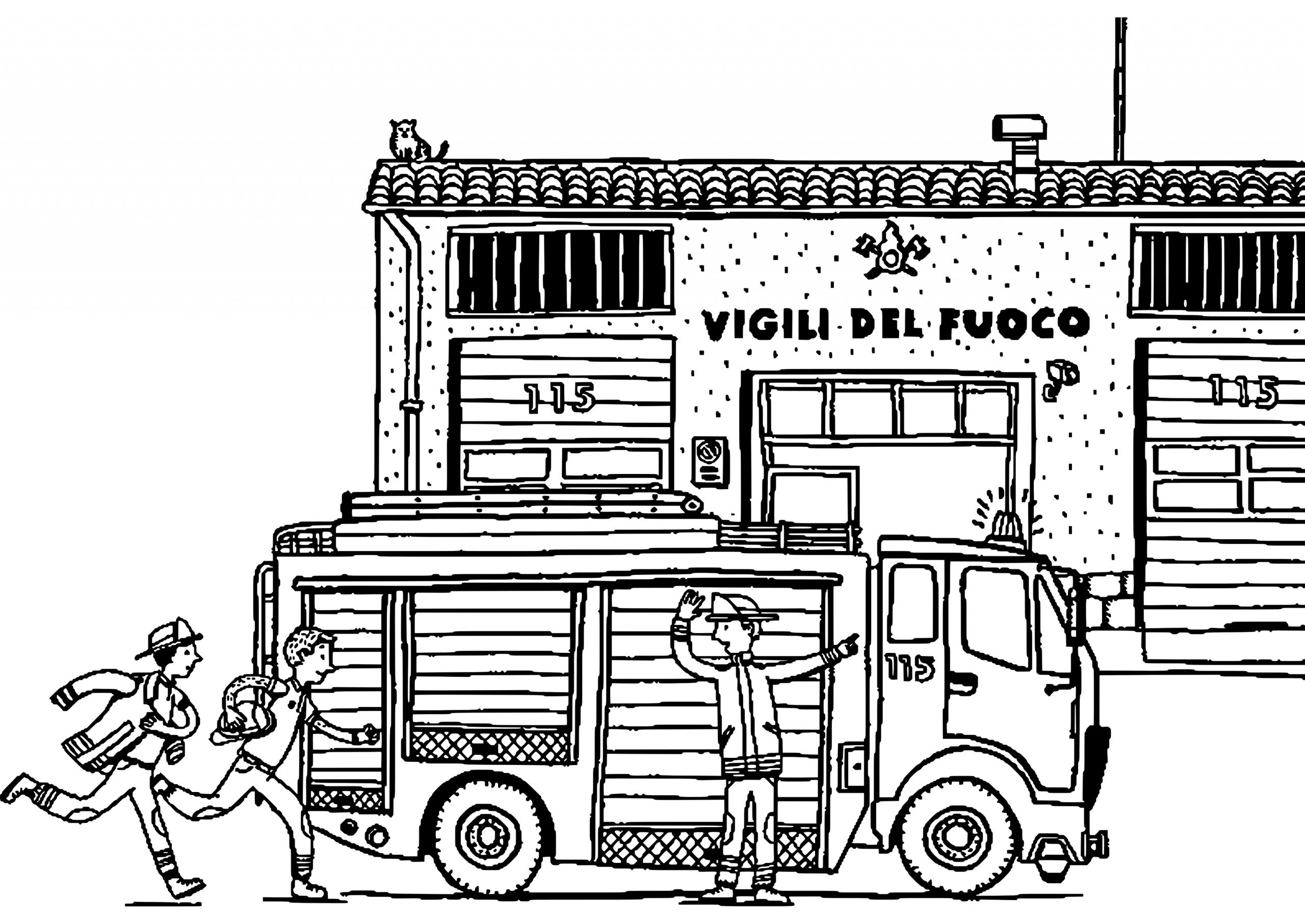 Camion De Pompier #73 (Transport) – Coloriages À Imprimer tout Dessin De Pompier À Imprimer