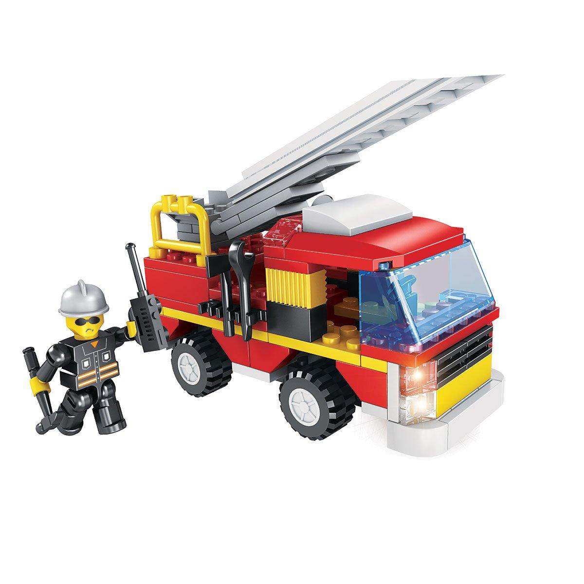 Camion De Pompier - Blocs De Construction - Police, Pompiers pour Jeux De Camion De Pompier Gratuit