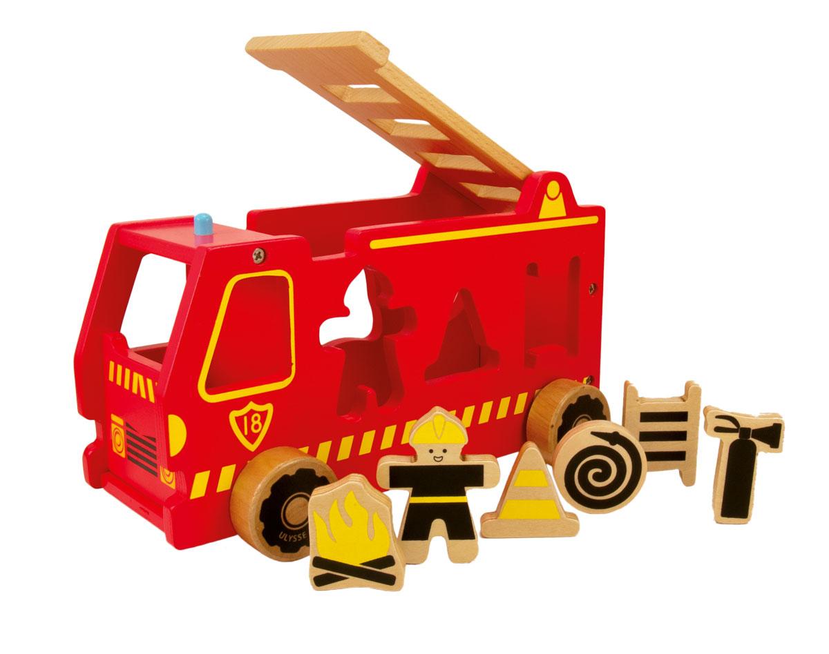 Camion De Pompier En Bois Jouet Enfant Garçon 2Ans Et Plus pour Jouet 2 Ans Garçon