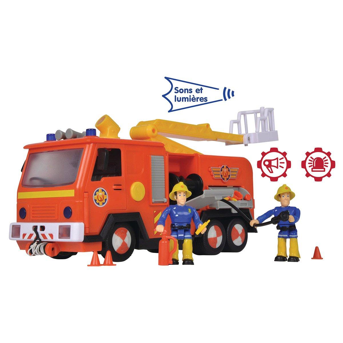 Camion De Pompier Jupiter Et Figurines Sam Le Pompier à Jeux De Camion De Pompier Gratuit
