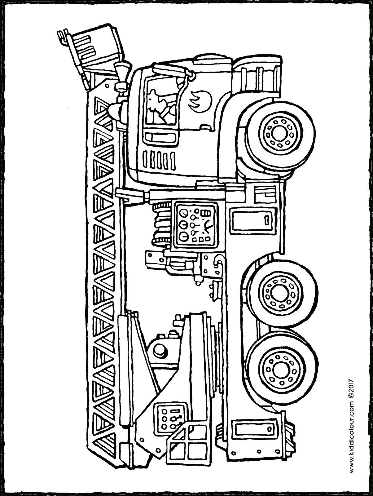 Camion De Pompier - Kiddicoloriage intérieur Dessin De Pompier À Imprimer