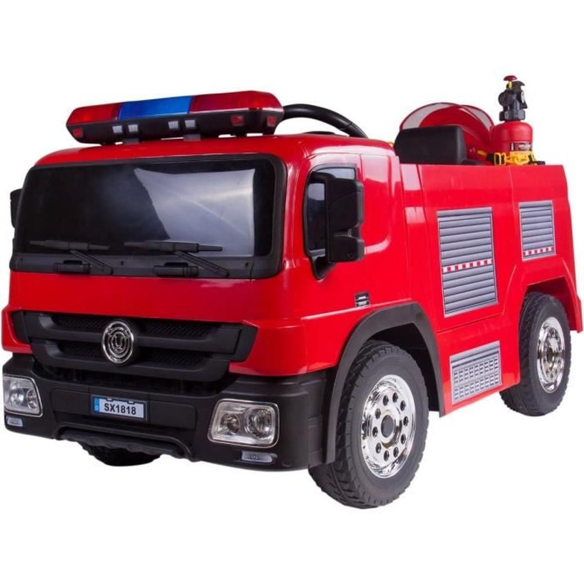 Camion Pompiers 115 Cm Rouge Voiture Électrique Enfant intérieur Jeux De Camion De Pompier Gratuit