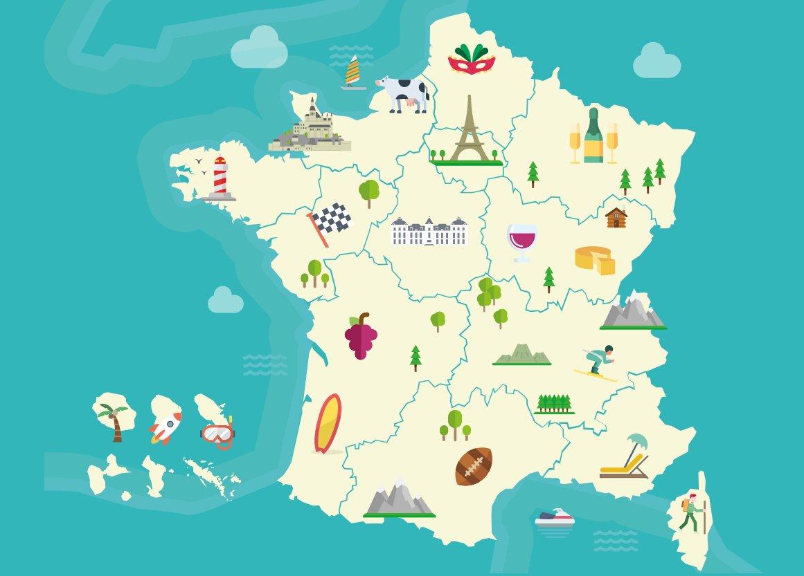 """Campus France On Twitter: """"découvrez La #france Et Ses pour Carte De France Et Ses Régions"""
