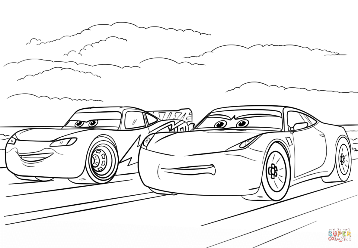 Car Mcqueen Coloring Pages Lightning Mcqueen From Cars 3 à Coloriage De Flash Mcqueen