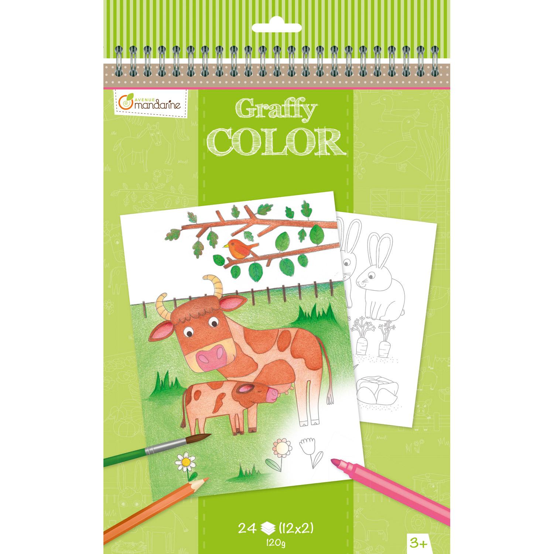 Carnet De Coloriage Graffy Color : Ferme pour Jeux Les Animaux De La Ferme
