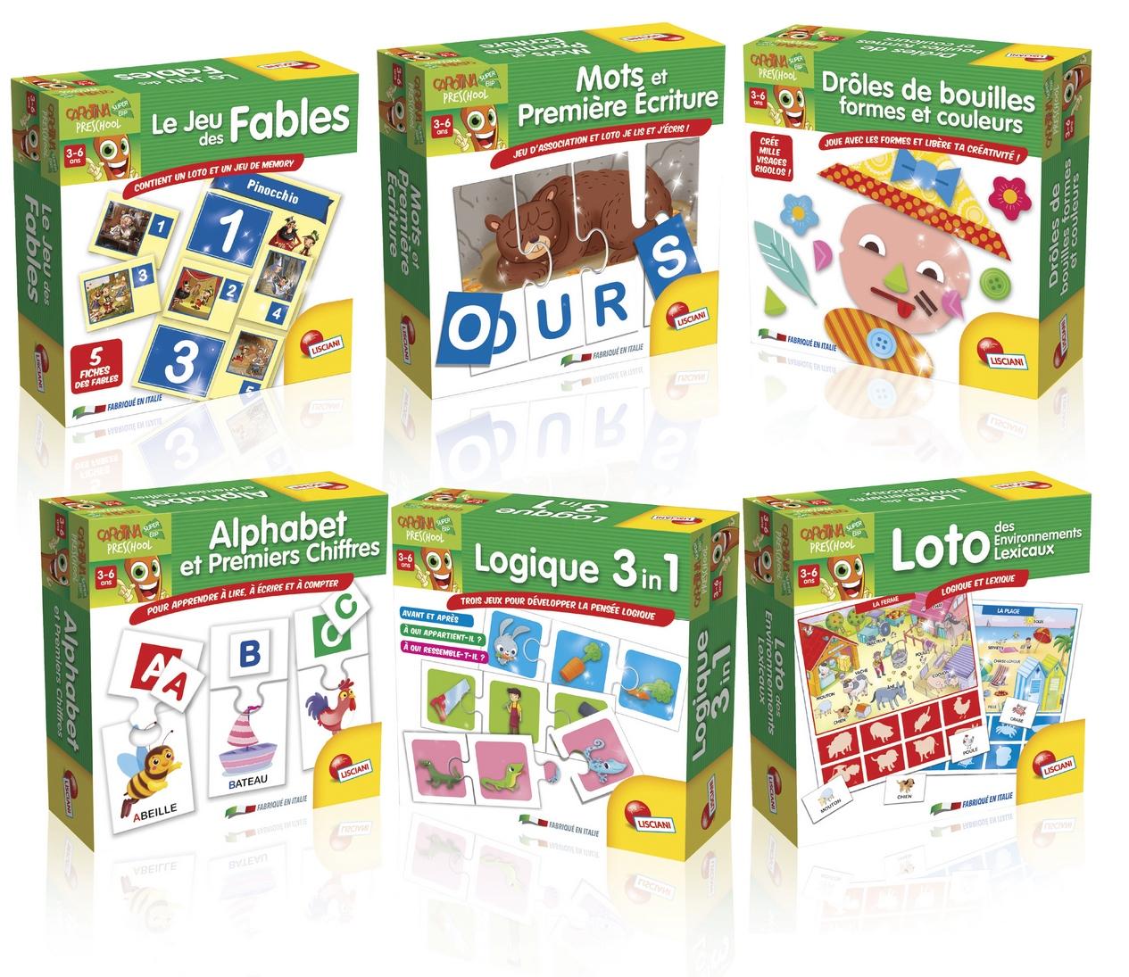 Carotina Preschool Jeux Éducatifs Assortis Version Française tout Les Jeux Educatif