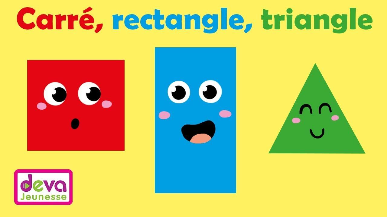 Carré, Rectangle, Triangle (J'apprends Les Formes Géométriques) Ⓓⓔⓥⓐ  Scolaire Petite Section encequiconcerne Les Formes Geometrique