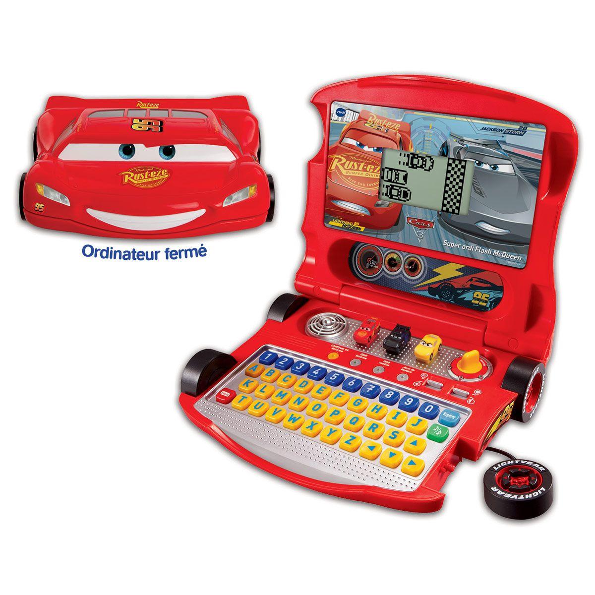Cars 3 : Super Ordi Flash Mcqueen - Jeux Éducatifs - La concernant Ordinateur Educatif Enfant