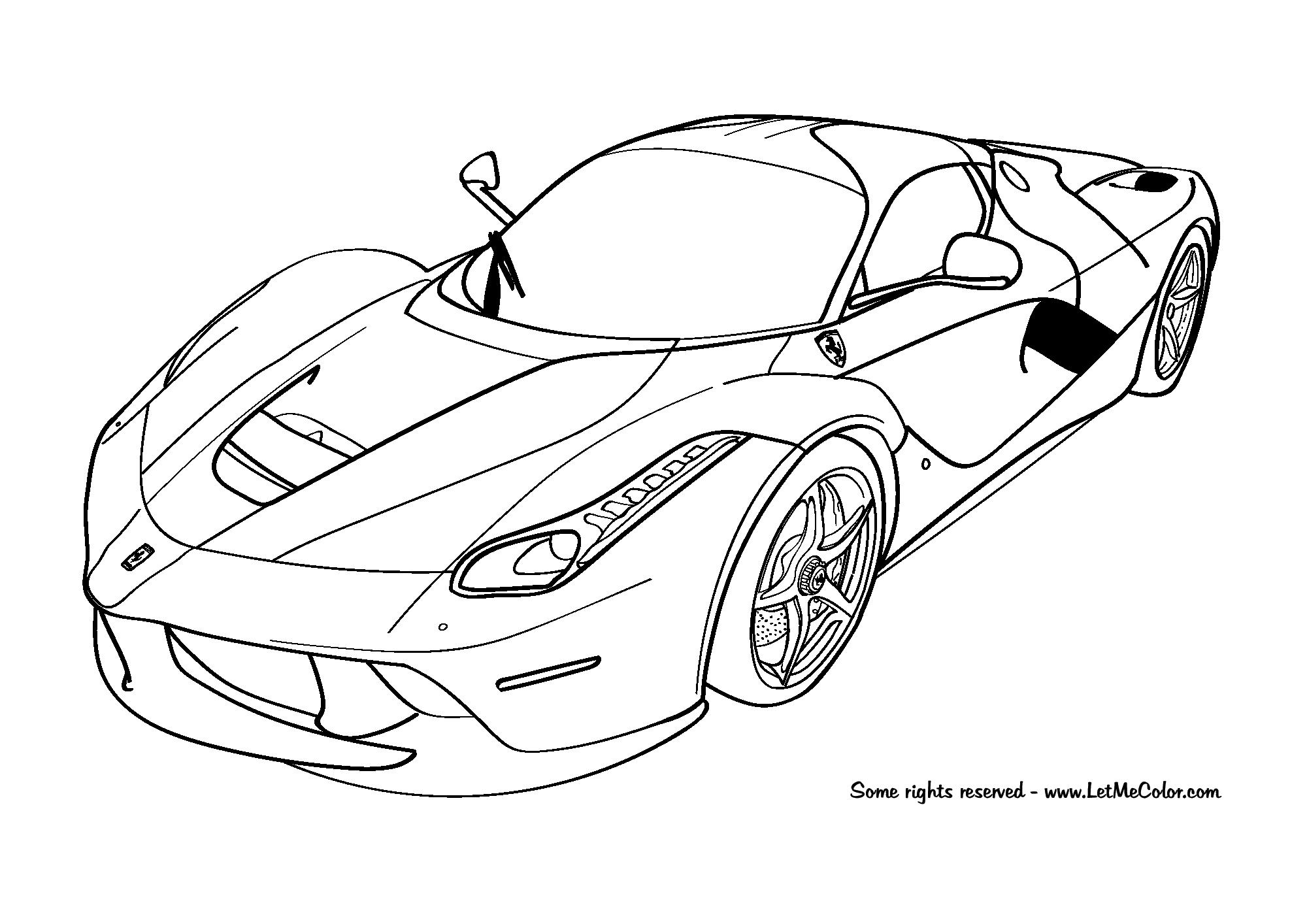 Cars-Coloring-Page-Ferrari-Laferrari-F150-Letmecolor serapportantà Ferrari A Colorier