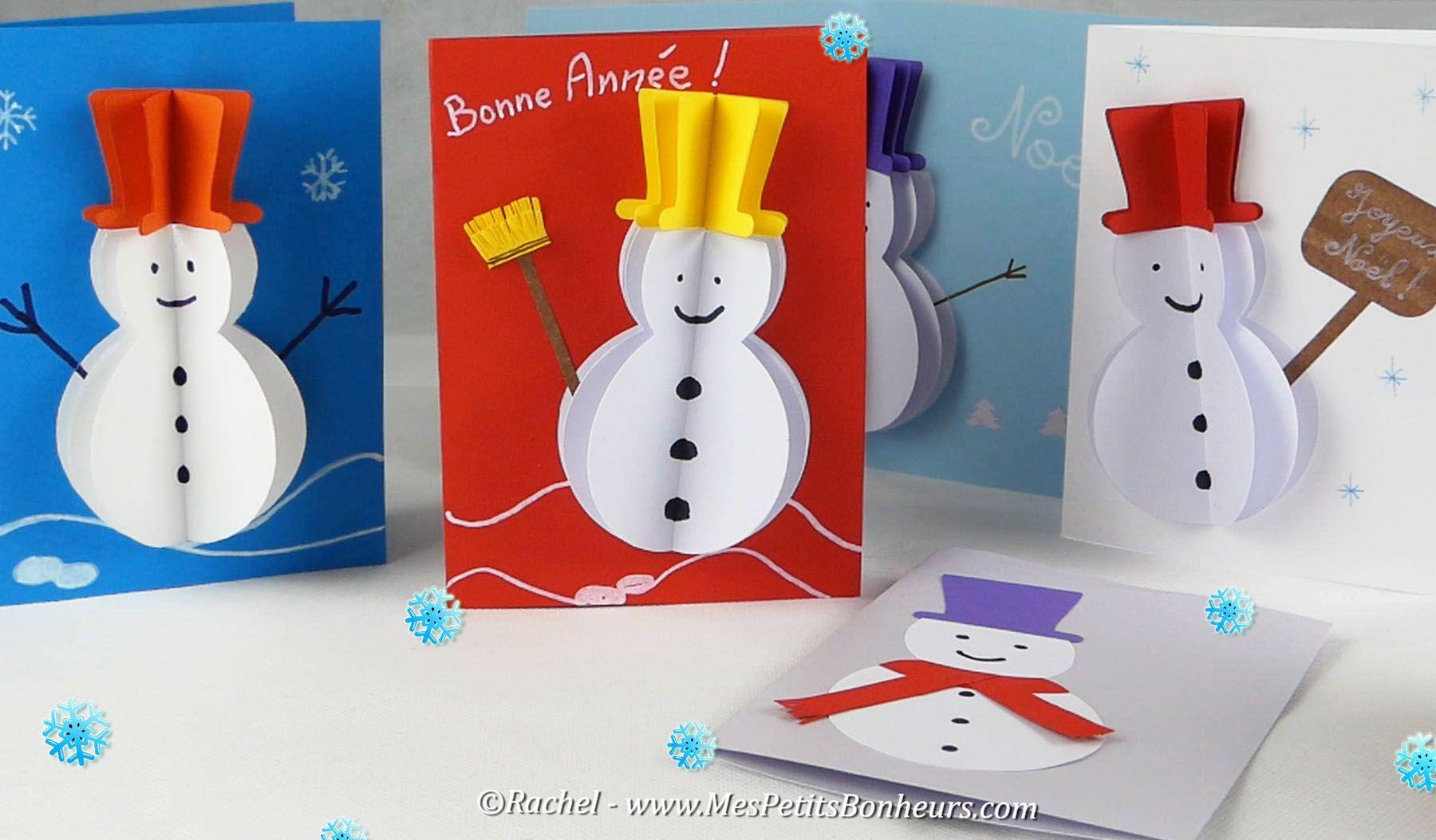 Carte-3D-Bonhomme-De-Neige-Volume-Tuto | Bonhomme De Neige destiné Carte Noel Gs