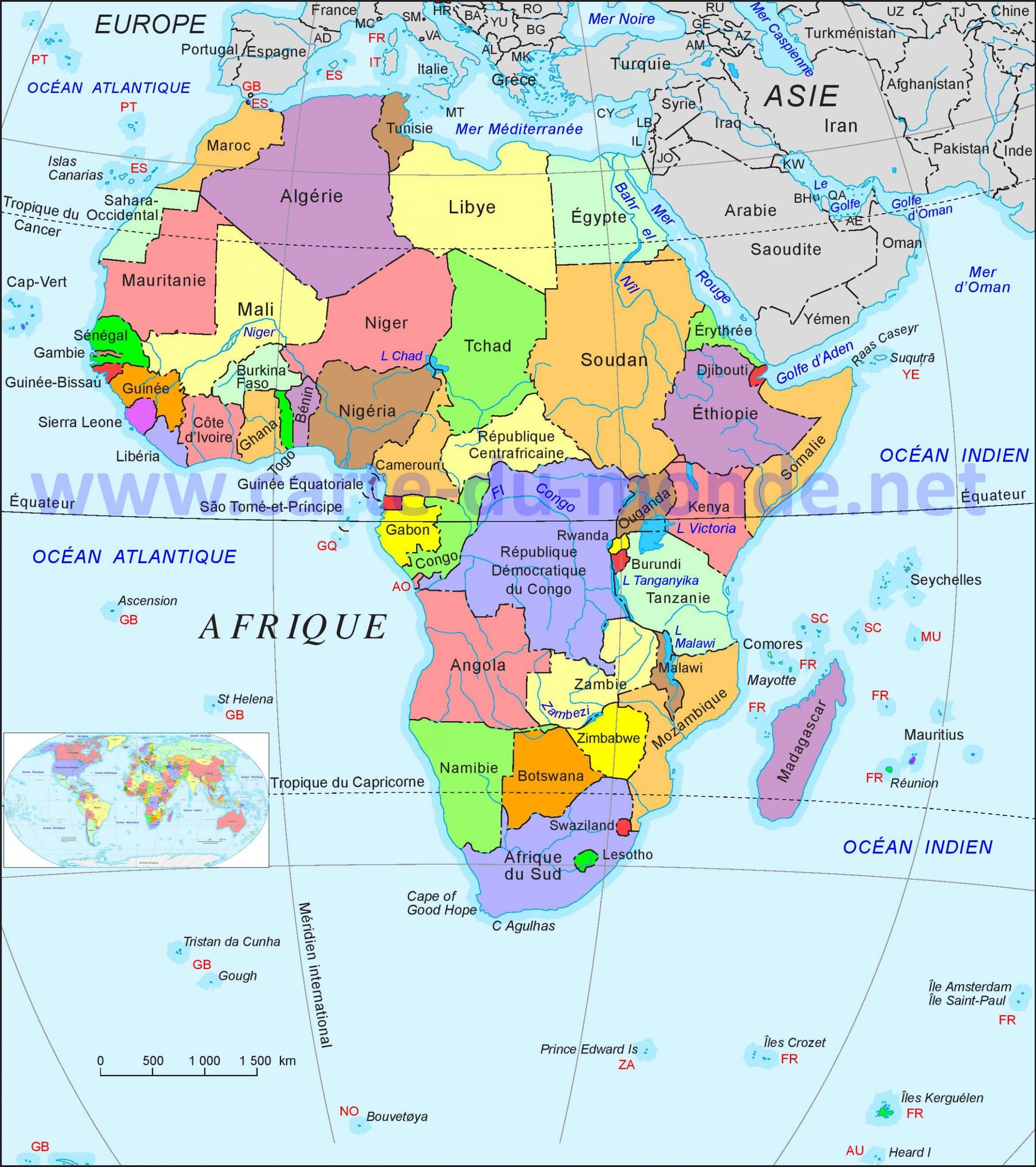 Carte Afrique, Carte Du Monde tout Carte D Europe À Imprimer