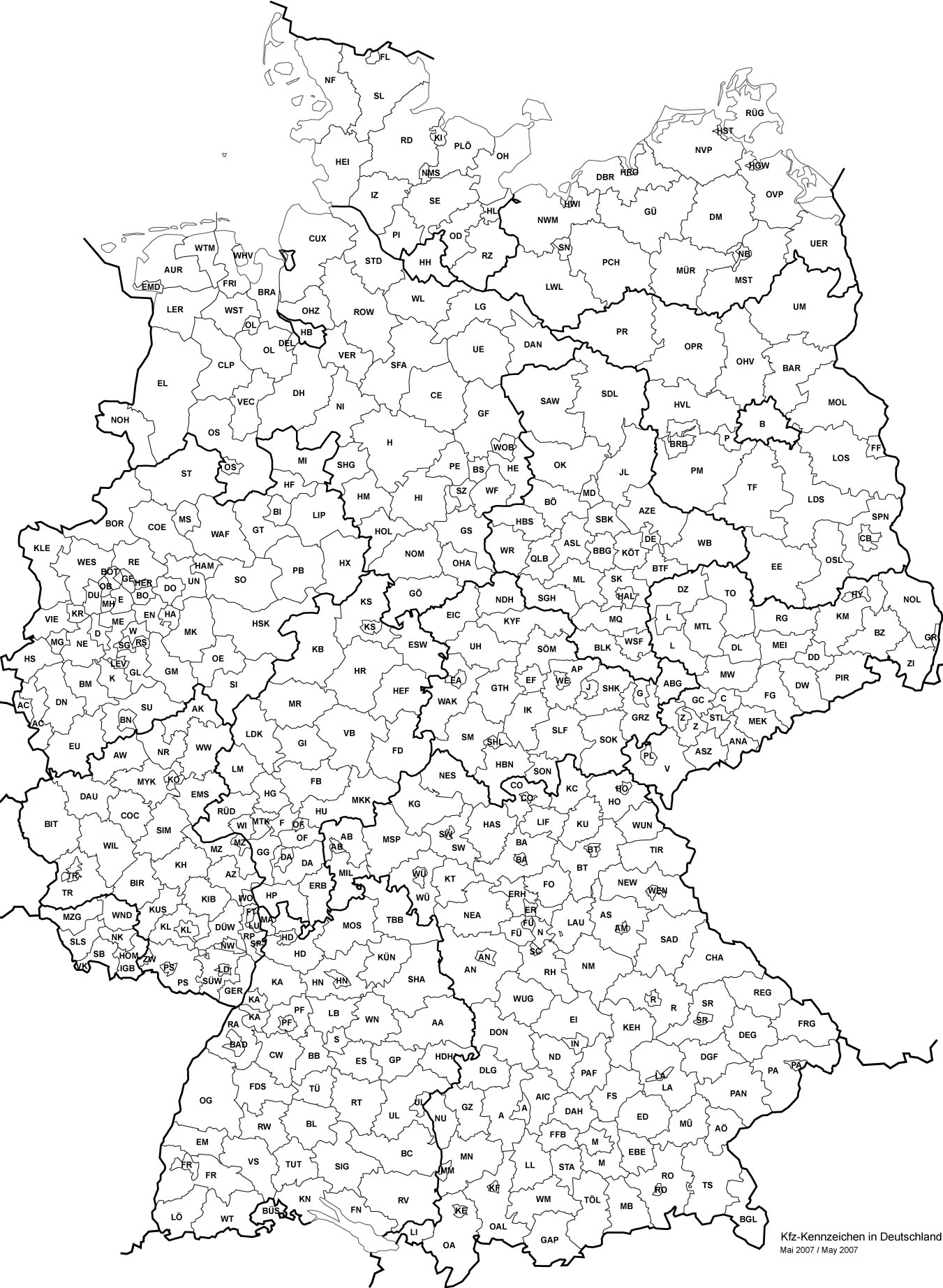 Carte Allemagne Vierge Départements, Carte Vierge Des dedans Carte Département Vierge