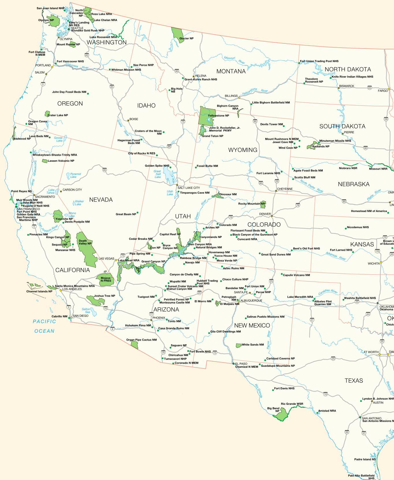 Carte Amerique Ouest - 1Jour1Col concernant Carte Des Etats Unis À Imprimer