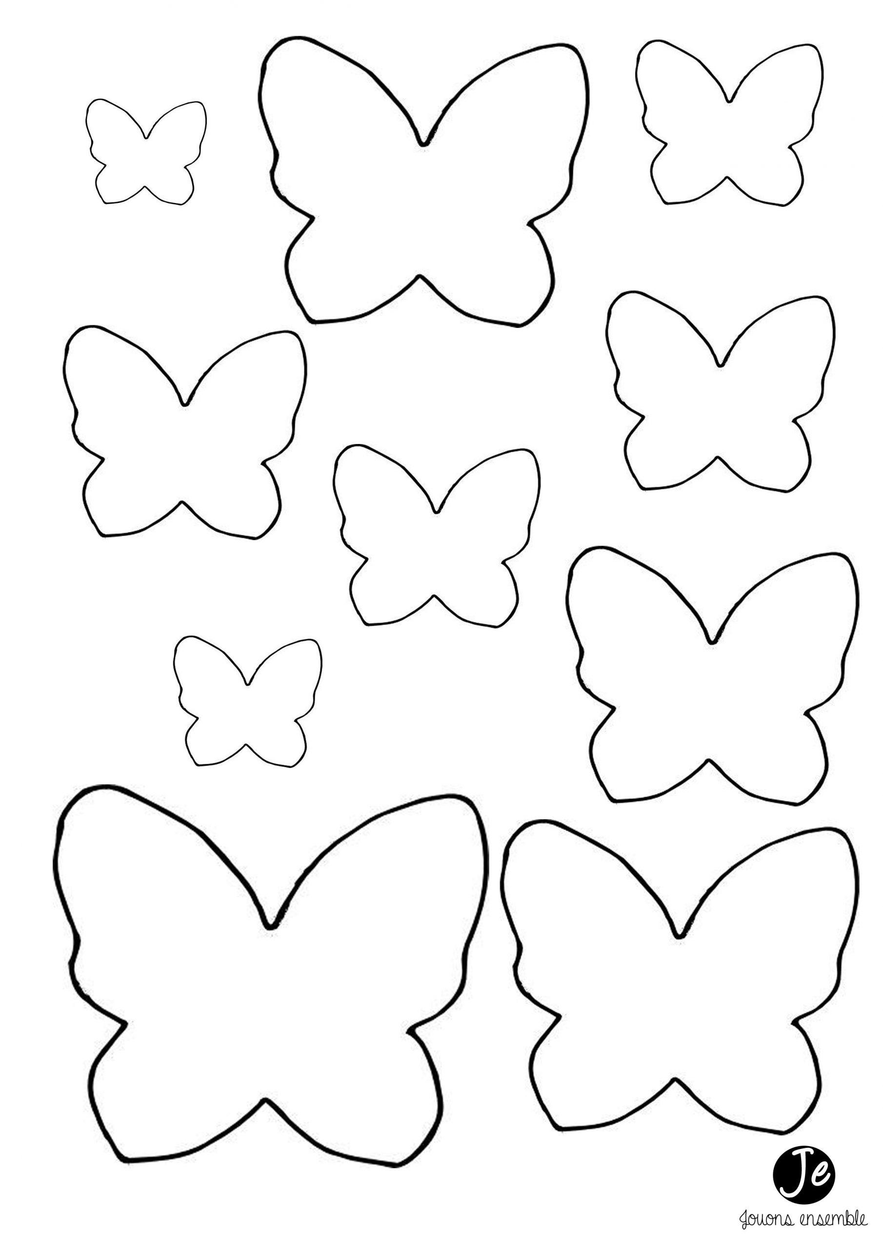 Carte Anniversaire Papillon | Jouonsensemble | Gabarit serapportantà Etiquette Papillon A Imprimer