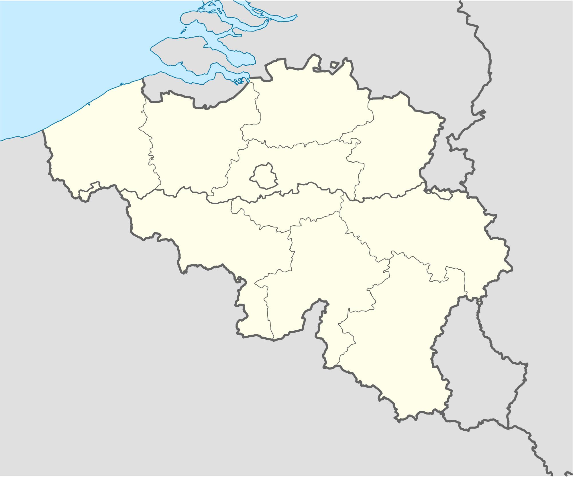 Carte Belgique Vierge Régions, Carte Vierge Des Régions De destiné Carte De France Des Régions Vierge