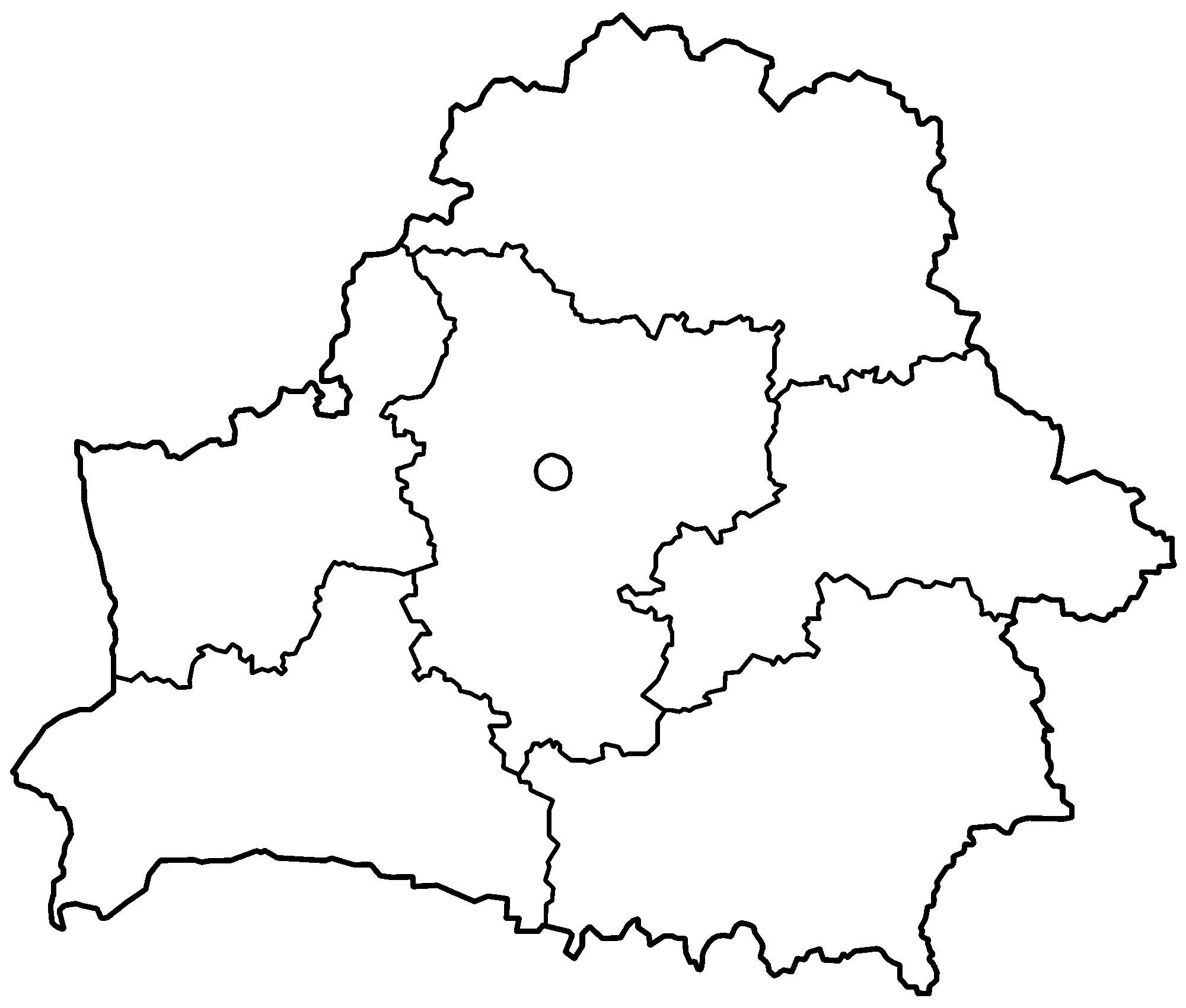 Carte Biélorussie Vierge, Carte Vierge De Biélorussie serapportantà Carte Des Régions De France Vierge