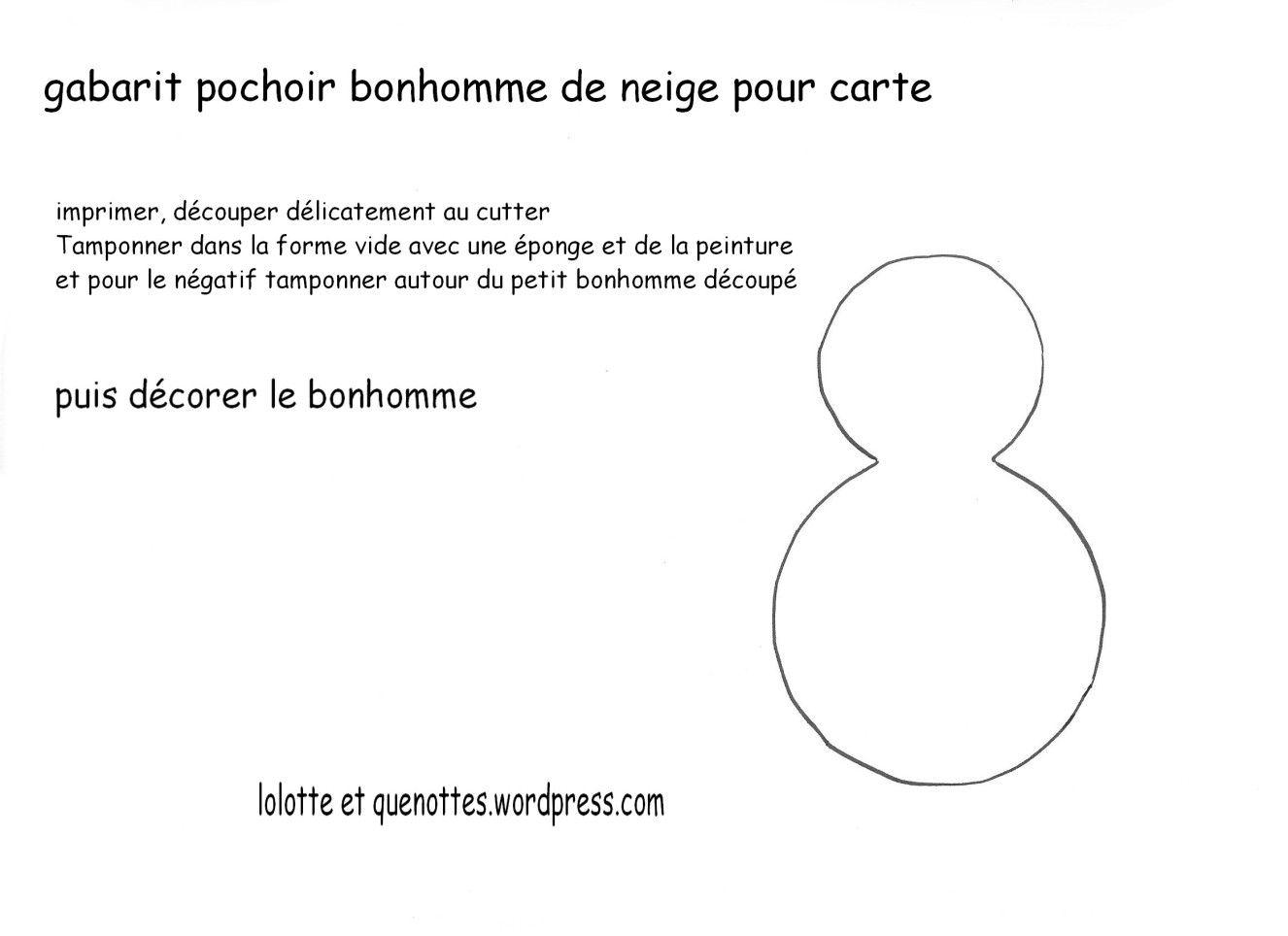 Carte Bonhomme De Neige Au Pochoir | Pochoir, Bonhomme De intérieur Modèle Bonhomme De Neige À Découper