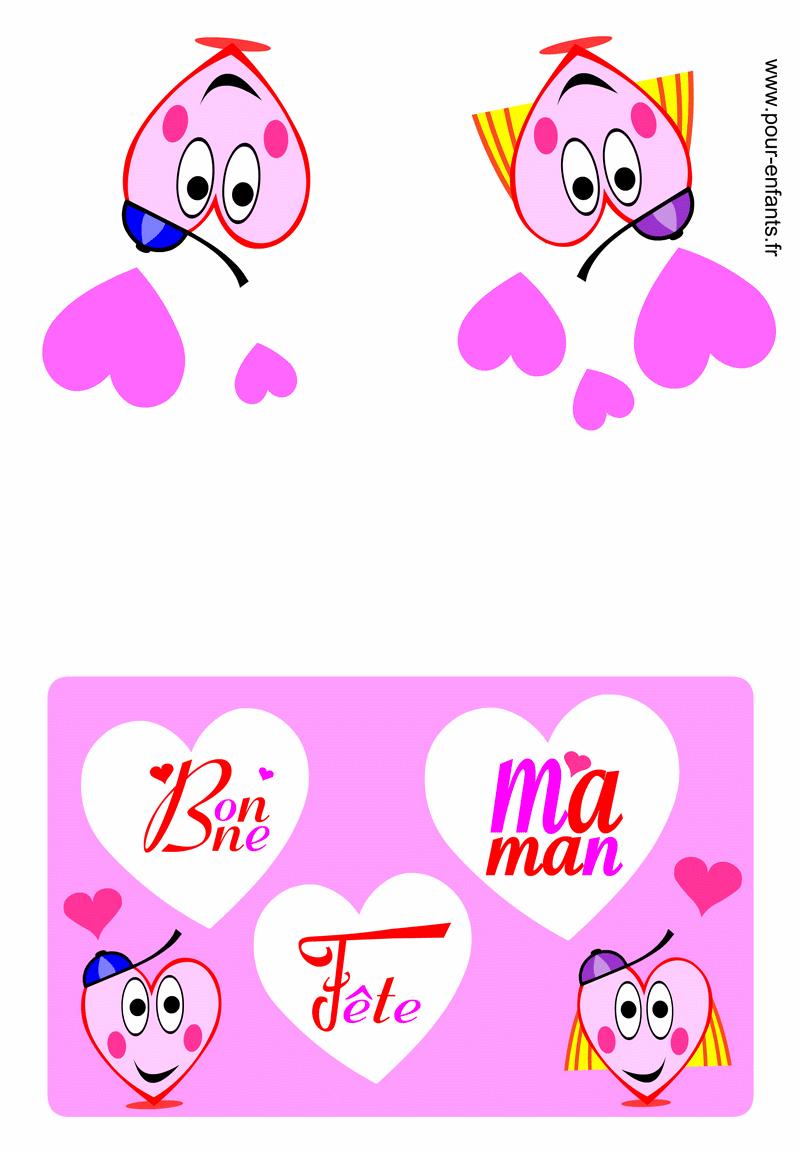 Carte Bonne Fete Maman Fête Des Mères Fete Des Mamans Meres dedans Carte Bonne Fete Maman Imprimer