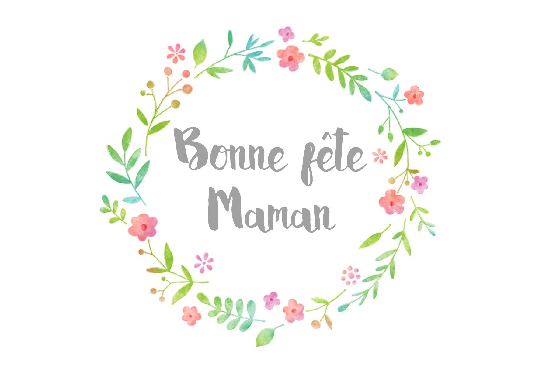 """Carte """"bonne Fête Maman"""" - Saperlipapier tout Carte Bonne Fete Maman Imprimer"""