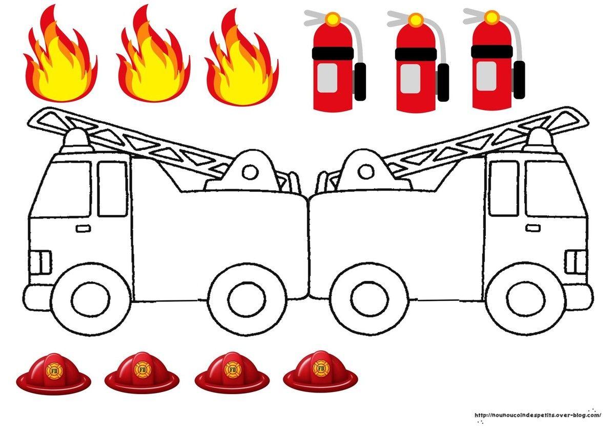 Carte Camion De Pompiers .. | Camion Pompier, Pompier Et à Jeux De Camion De Pompier Gratuit