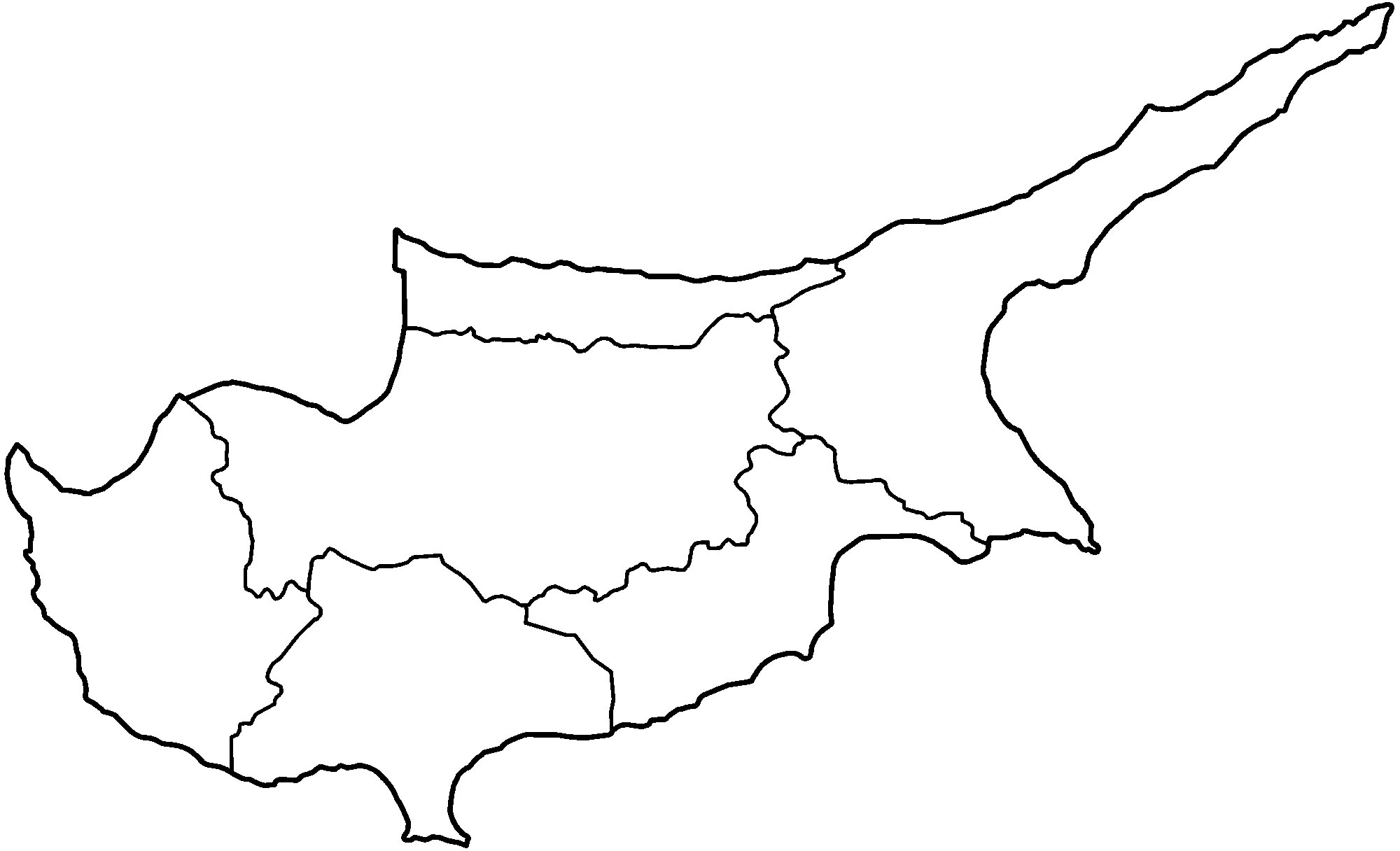 Carte Chypre Vierge Régions, Carte Vierge Des Régions De Chypre serapportantà Carte Vierge Des Régions De France