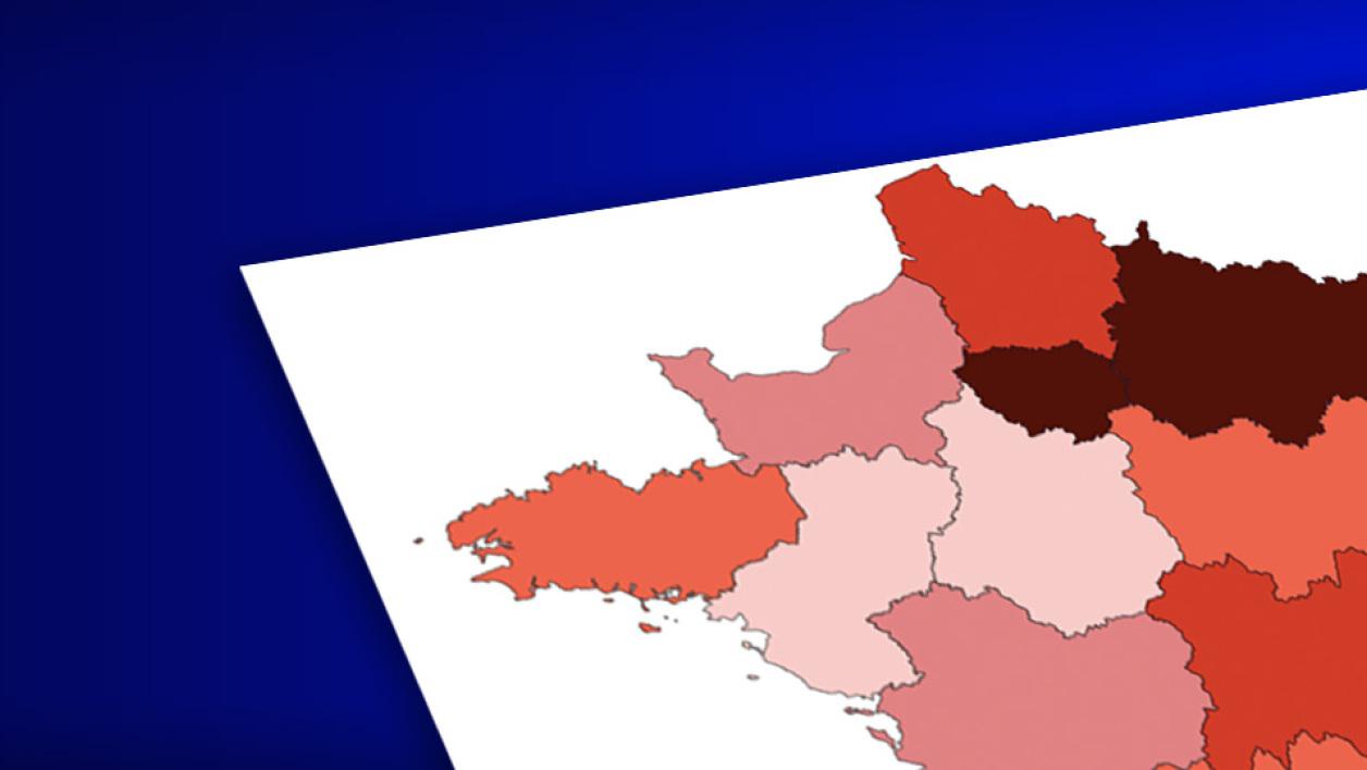 Carte. Coronavirus En France: 19.856 Cas Confirmés Dans Le serapportantà Carte De La France Région