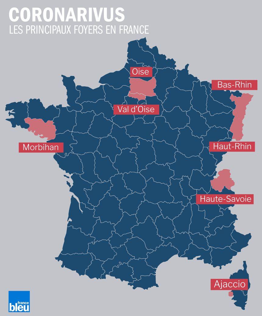 Carte - Coronavirus : Où Sont Les Principaux Foyers tout Carte Geographique Du France