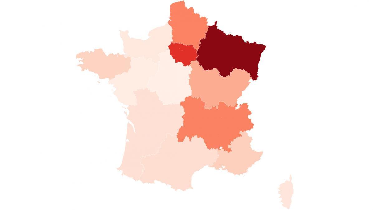 Carte. Coronavirus : Toutes Les Régions De France destiné Carte De France Avec Les Régions