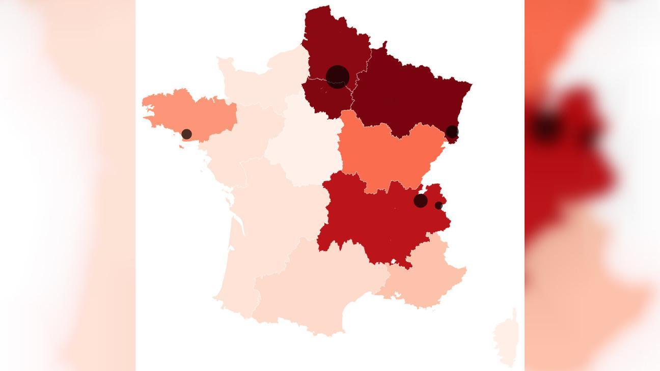 Carte. Coronavirus : Toutes Les Régions De France pour Liste Des Régions Françaises