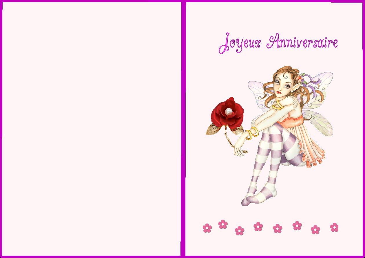 Carte D Anniversaire Pour Fille A Imprimer Gratuitement pour Gratuit Pour Fille
