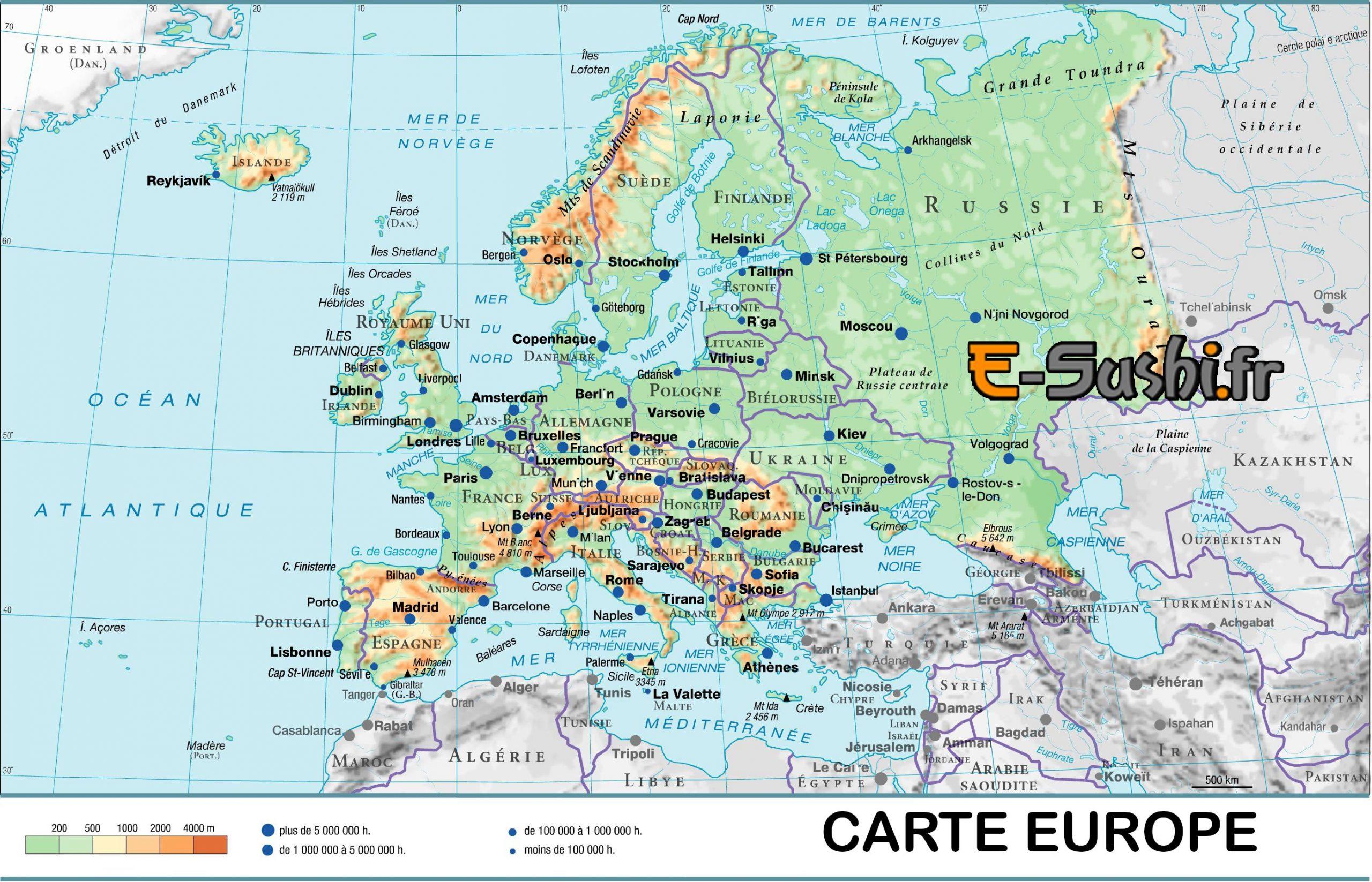 Carte D Europe Images Et Photos - Arts Et Voyages concernant Carte Europe Avec Capitales