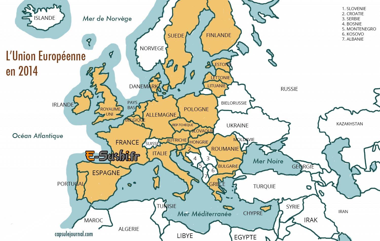 Carte D Europe Images Et Photos - Arts Et Voyages encequiconcerne Carte Europe 2017