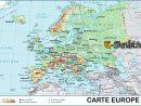 Carte D Europe Images Et Photos - Arts Et Voyages intérieur Carte Géographique De L Europe