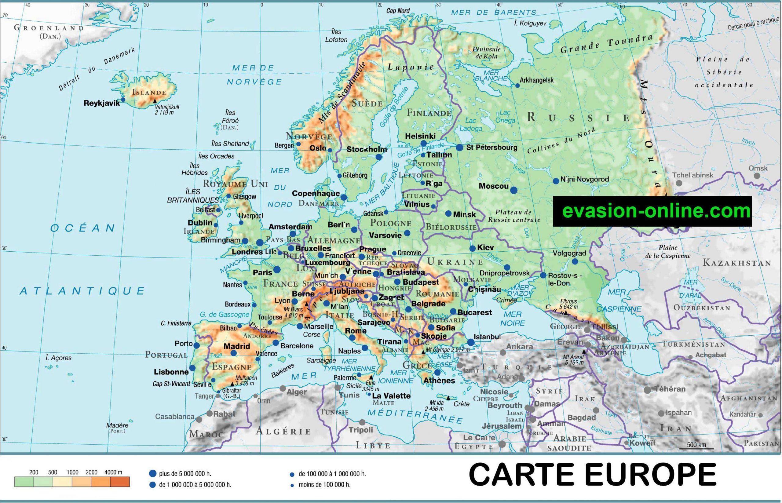 Carte D Europe Images Et Photos » Vacances - Arts- Guides à Carte Europe Sans Nom Des Pays