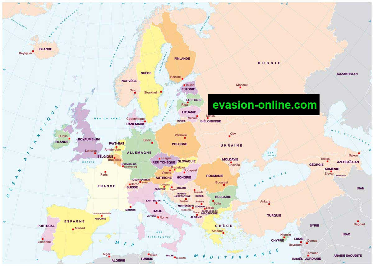 Carte D Europe Images Et Photos » Vacances - Arts- Guides concernant Carte D Europe En Francais