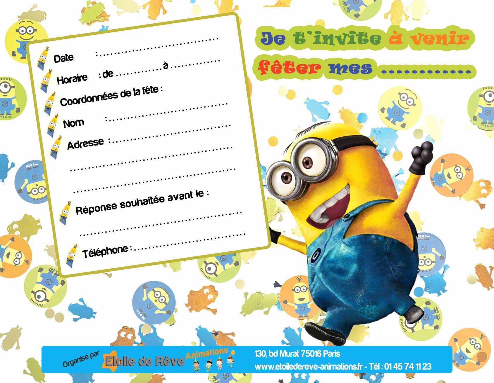 Carte D Invitation Anniversaire Gratuite À Imprimer Un avec Jeux Gratuit Garcon