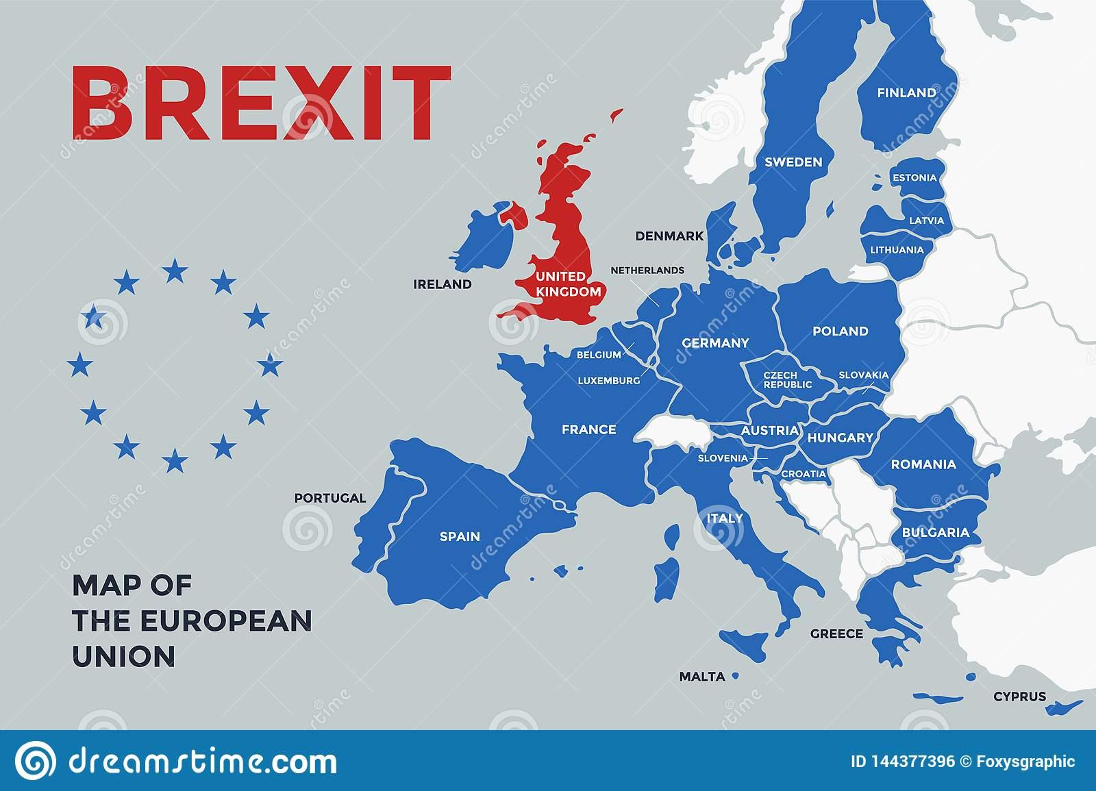 Carte D'affiche De L'union Européenne Avec Des Noms Du Pays avec La Carte De L Union Européenne