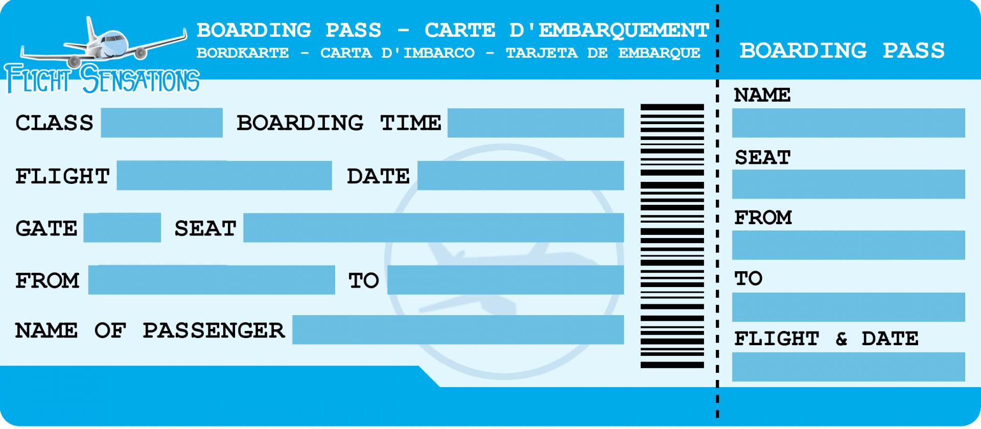 Carte Danniversaire Billet Davion A Imprimer Élégant Page concernant Billet À Imprimer Pour Jouer