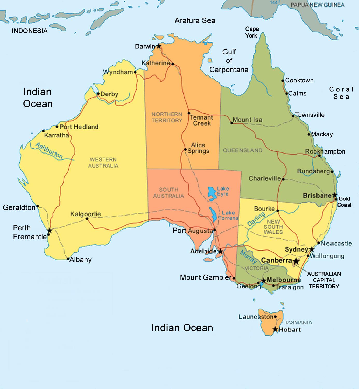 Carte De Australie Departement Région - Carte Du Monde pour Carte Region Departement