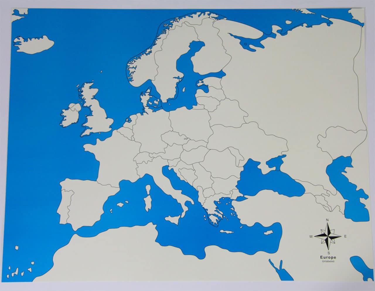 Carte De Contrôle De L'europe serapportantà Carte Géographique Europe