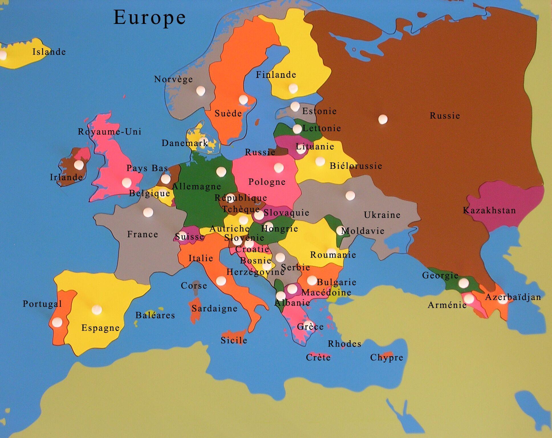 Carte De Contrôle De L'europe | Voyage Autour Du Monde tout Carte Europe Enfant