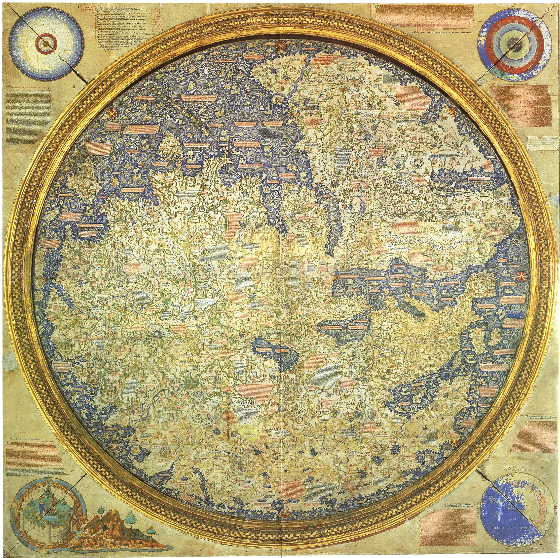 Carte De Fra Mauro — Wikipédia intérieur Carte De Fra