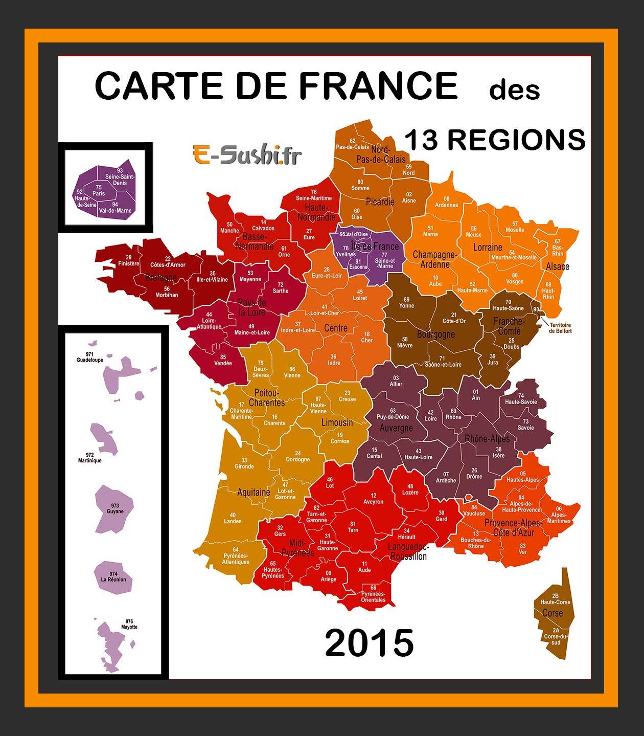 Carte De France 13 Régions - Arts Et Voyages serapportantà Carte Des 13 Régions