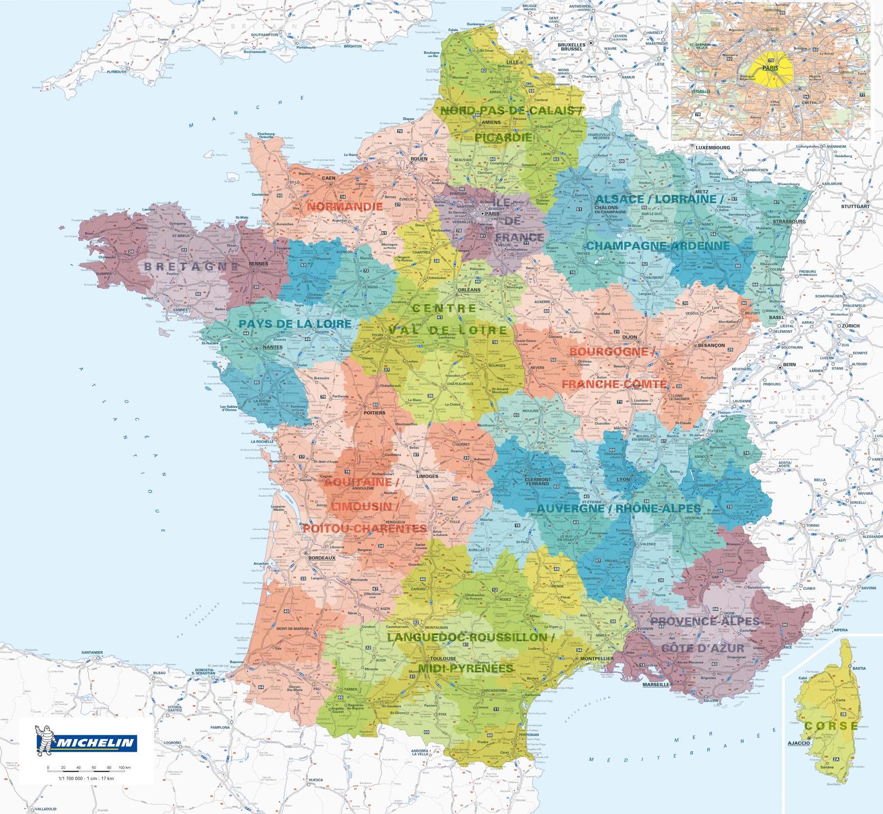 Carte De France Avec Départements Et Régions À Imprimer tout Plan De France Avec Departement