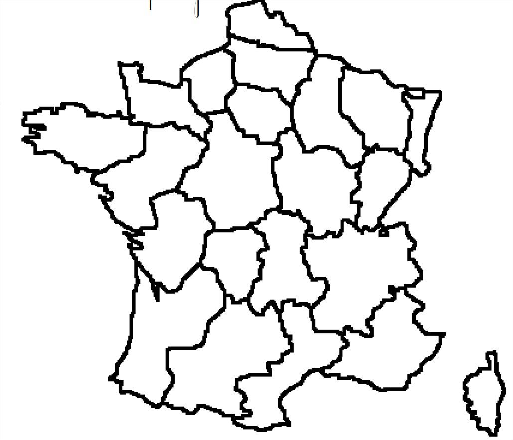 Carte De France Avec Les Régions À Compléter avec Carte De France Région Vierge