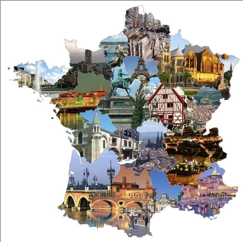 Carte De France Avec Paysages | Carte De France, Les Régions destiné Carte De France Avec Region