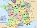 Carte De France Avec Villes Principales À Imprimer | My Blog pour Carte De France Avec Département À Imprimer